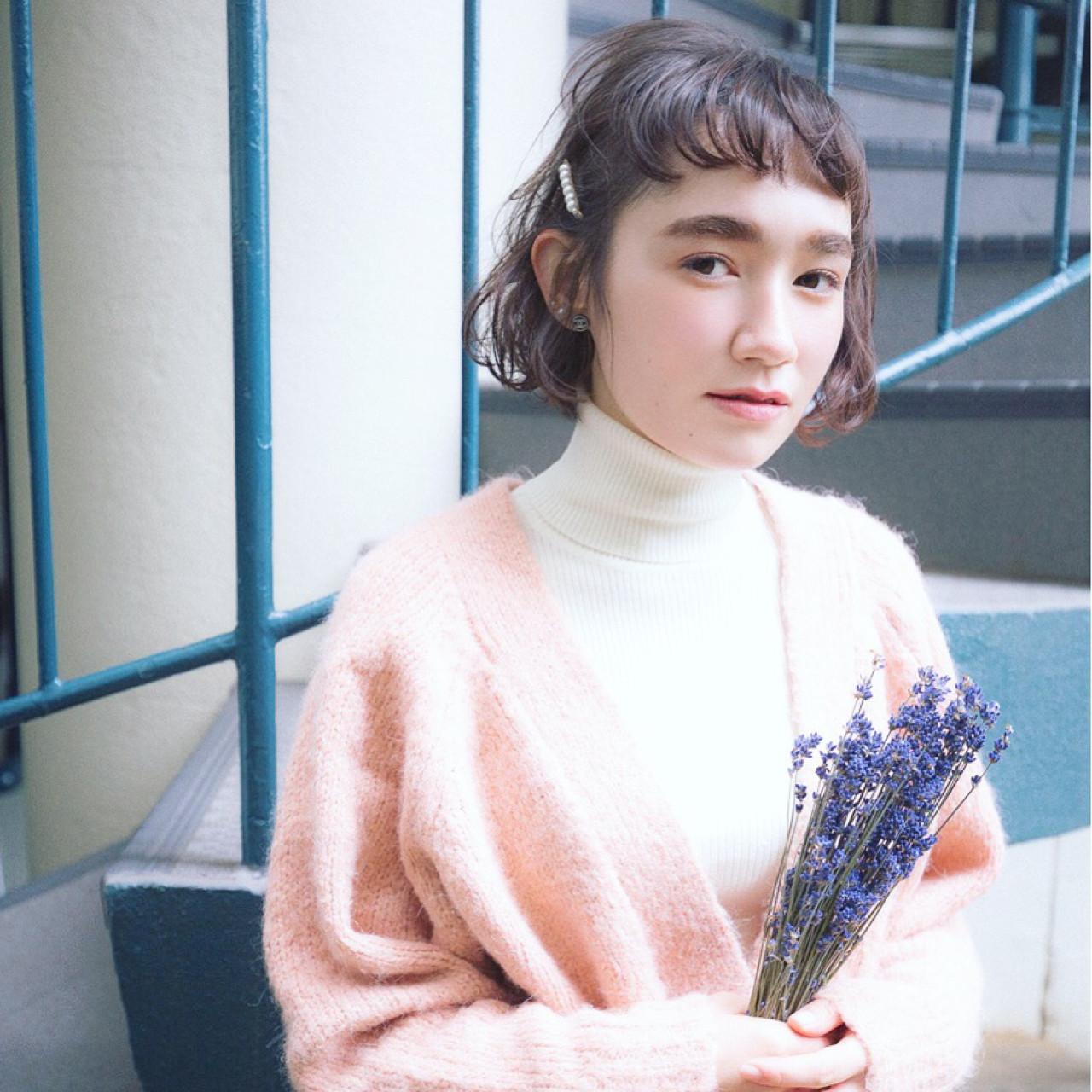外国人風 ボブ ショート ストリート ヘアスタイルや髪型の写真・画像