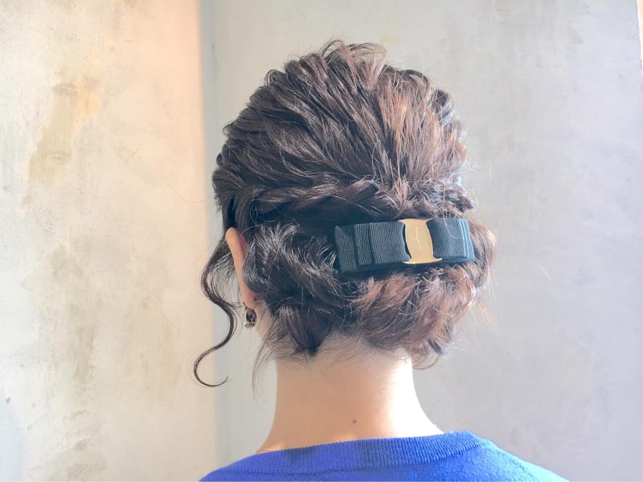 フェミニン ボブ ヘアアレンジ パーティ ヘアスタイルや髪型の写真・画像