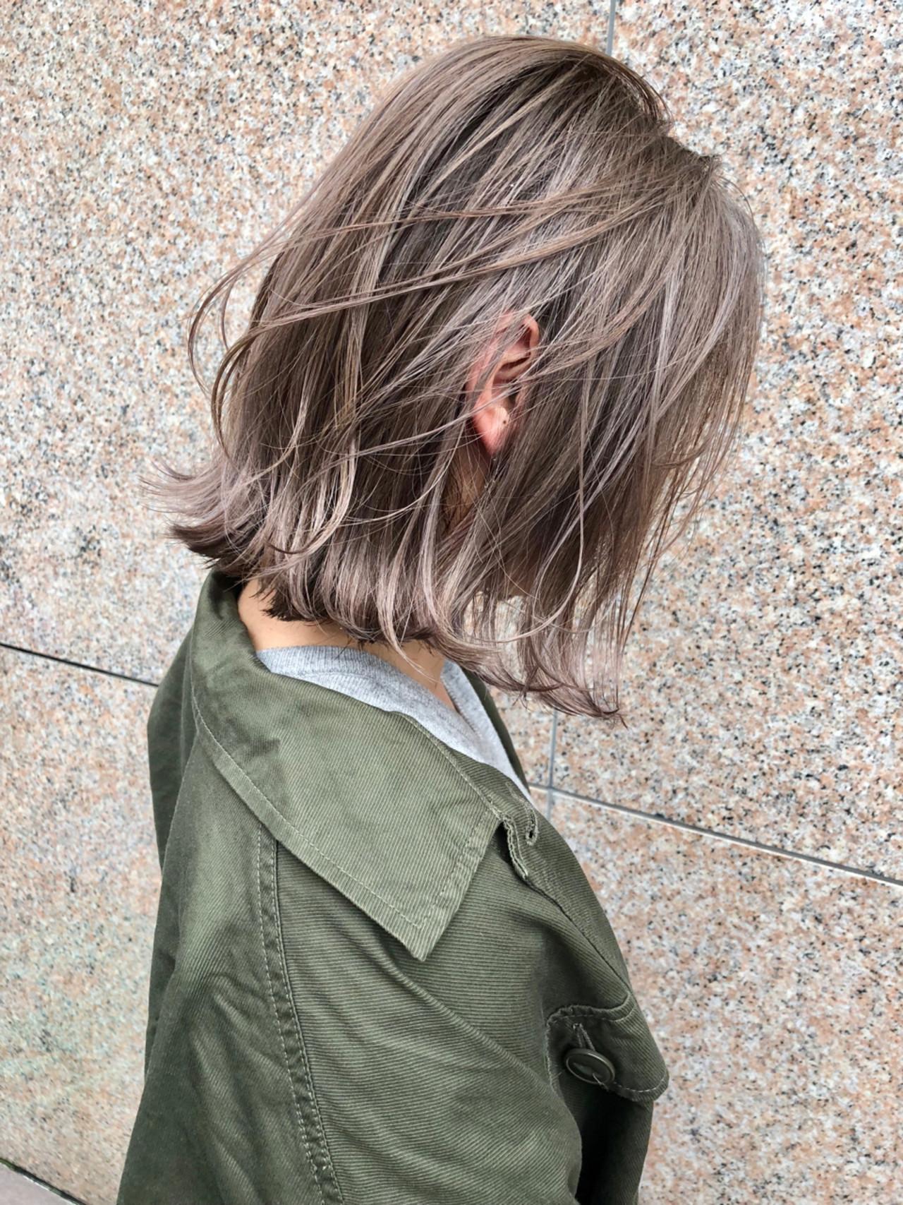 ハイライト ゆるふわ ストリート アンニュイ ヘアスタイルや髪型の写真・画像
