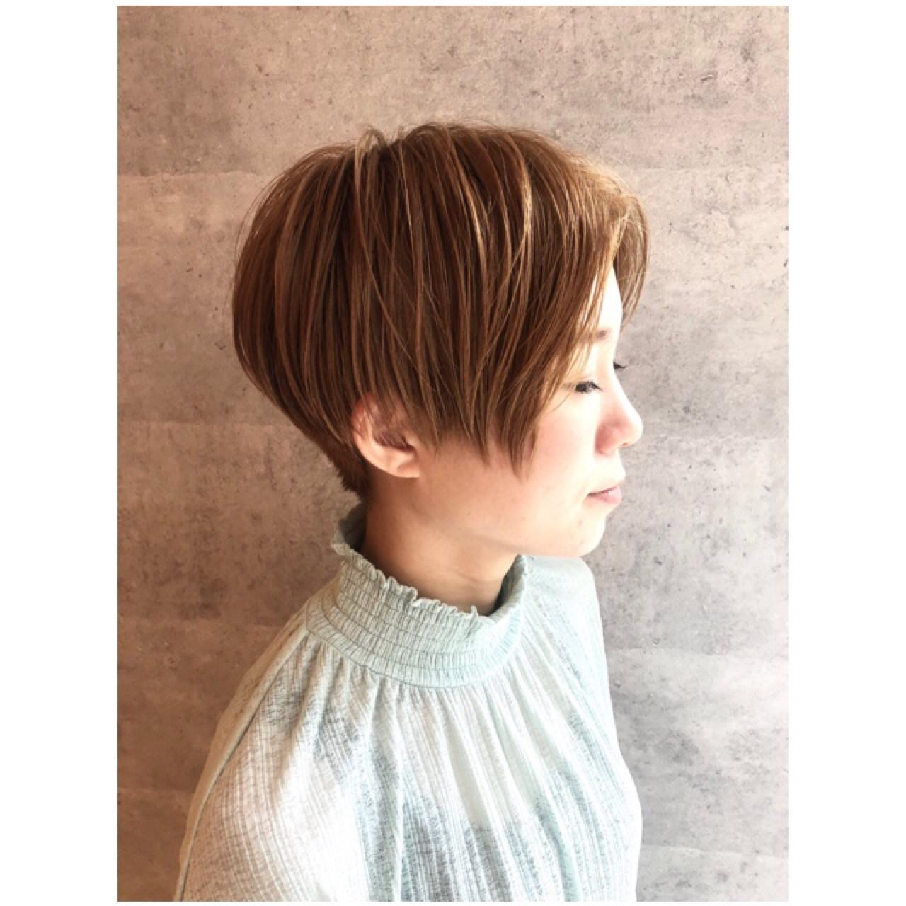 ベリーショート 小顔 マッシュ 似合わせ ヘアスタイルや髪型の写真・画像
