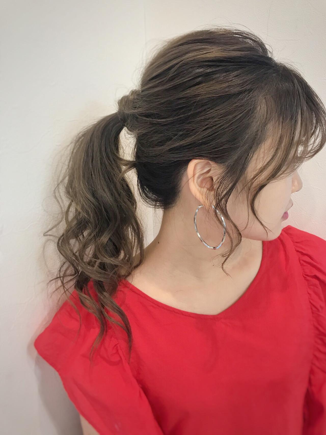 セミロング オフィス ヘアアレンジ アウトドア ヘアスタイルや髪型の写真・画像 | affect・Misuzu / affect