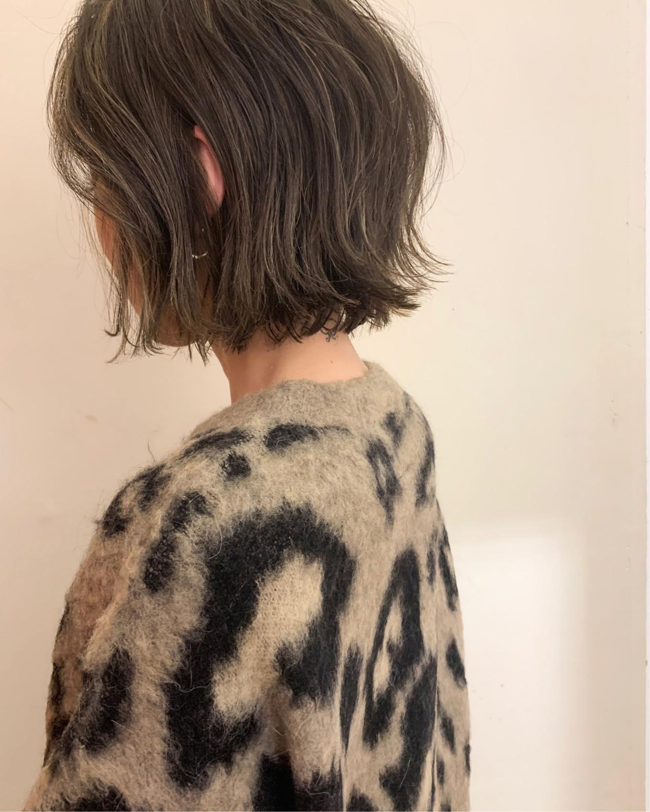 ゆるふわ ミニボブ 切りっぱなしボブ ナチュラル ヘアスタイルや髪型の写真・画像