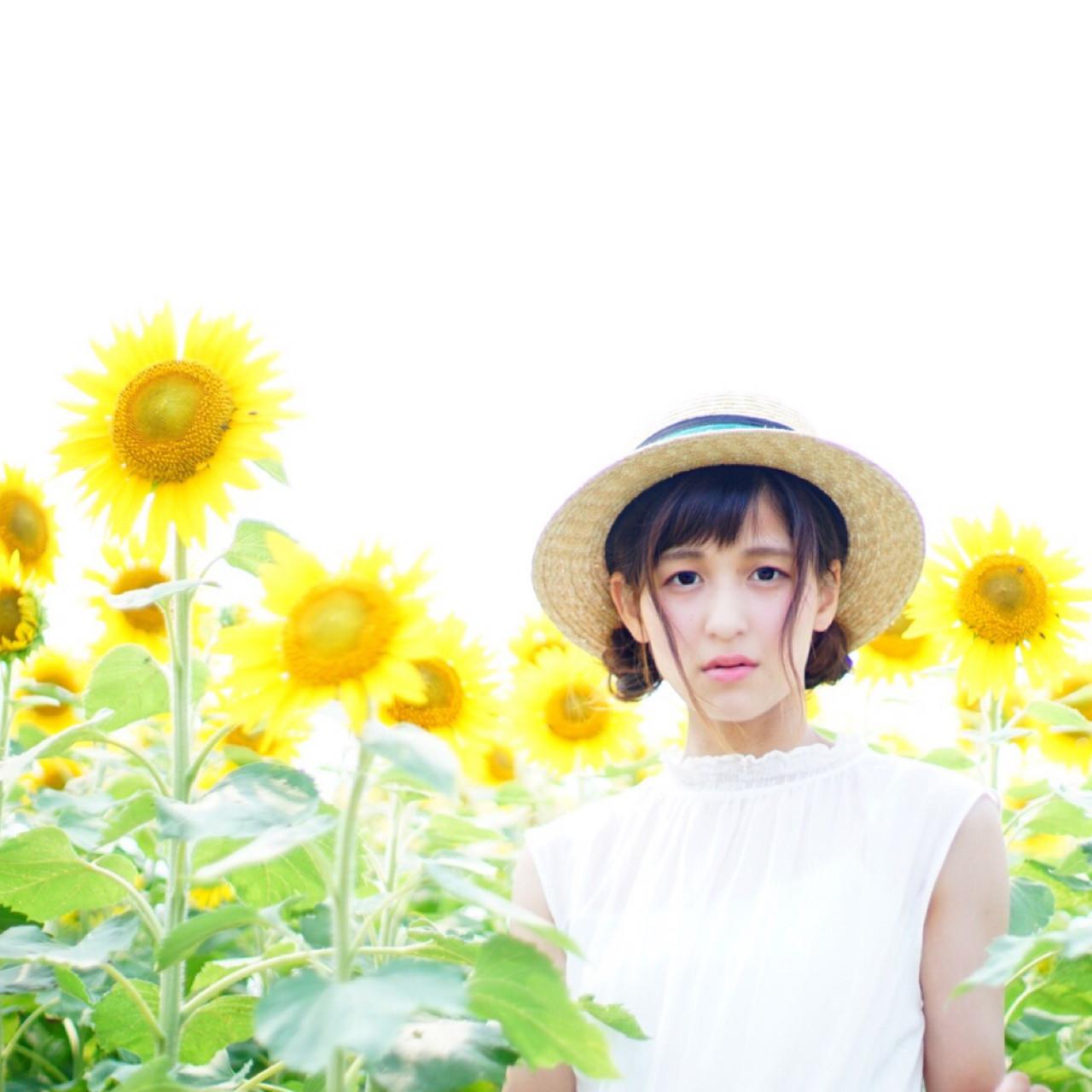 色気 ガーリー 夏 お団子 ヘアスタイルや髪型の写真・画像 | 舞奈-maina- /
