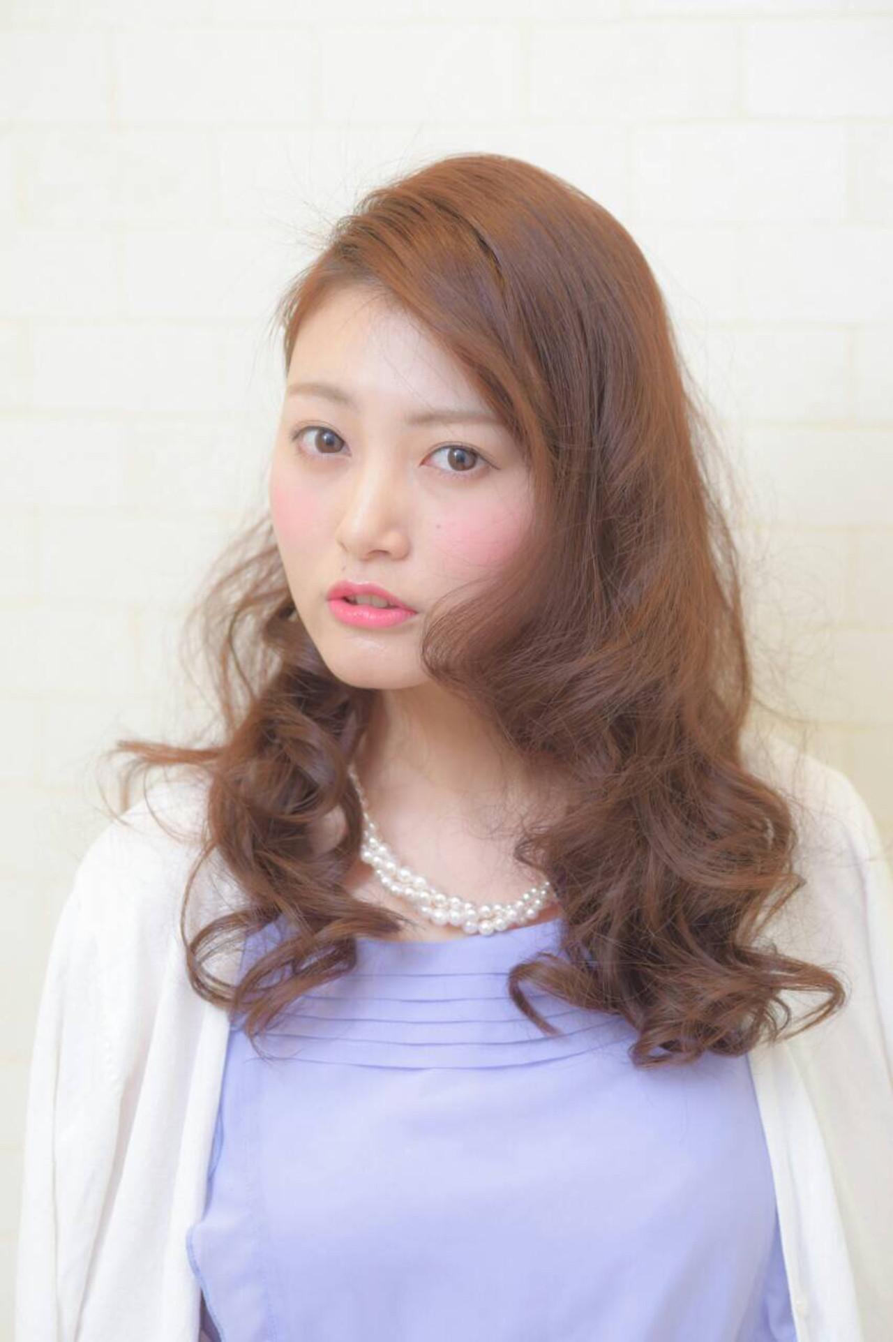 コンサバ フェミニン 丸顔 ゆるふわ ヘアスタイルや髪型の写真・画像 | Haruka /