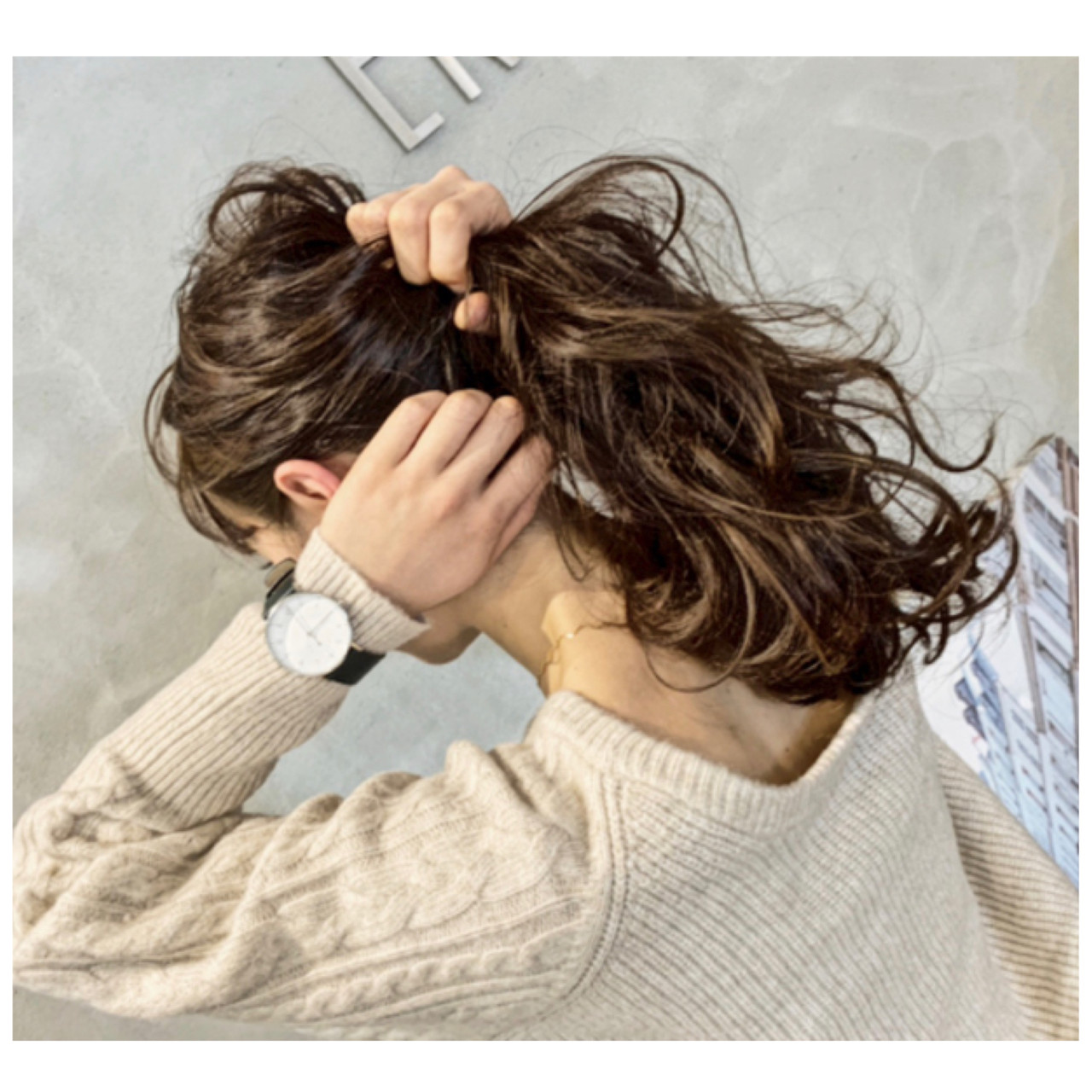 ナチュラル 大人カジュアル アンニュイほつれヘア ロング ヘアスタイルや髪型の写真・画像