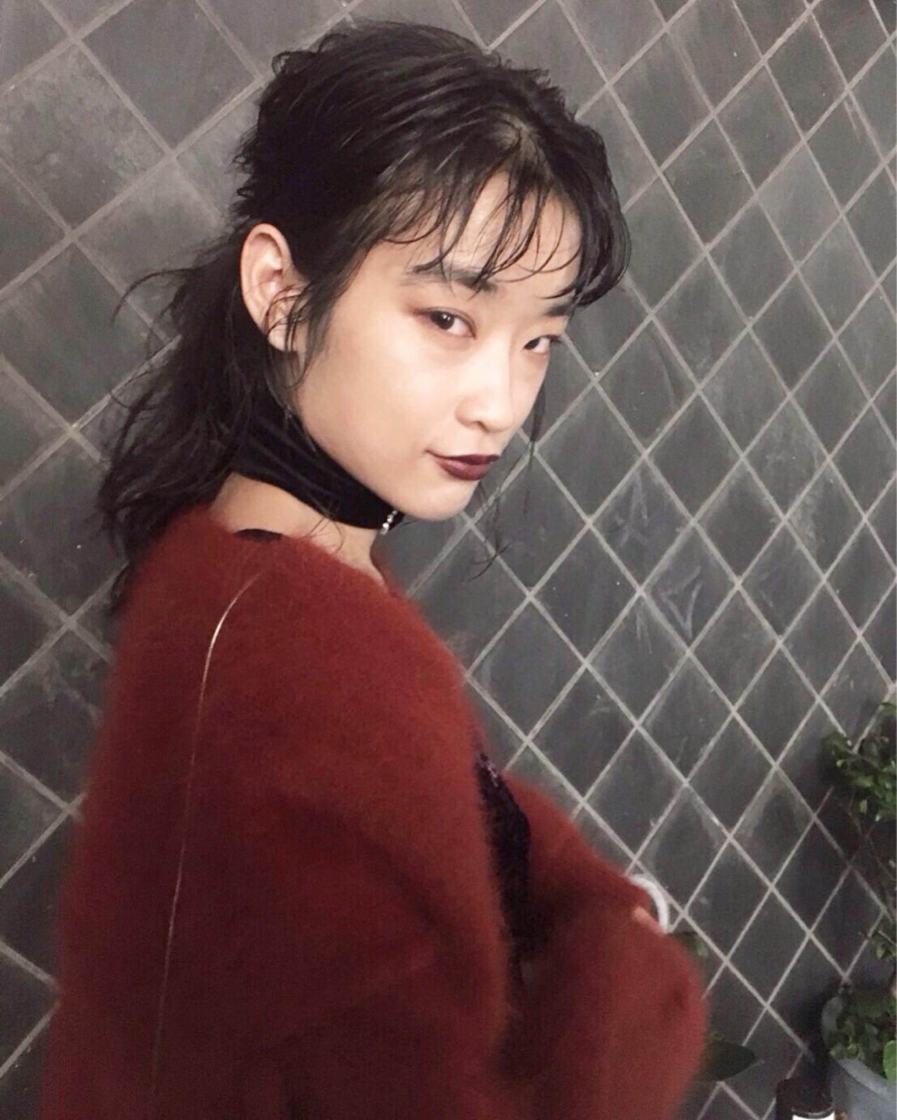 簡単ヘアアレンジ 色気 謝恩会 モード ヘアスタイルや髪型の写真・画像