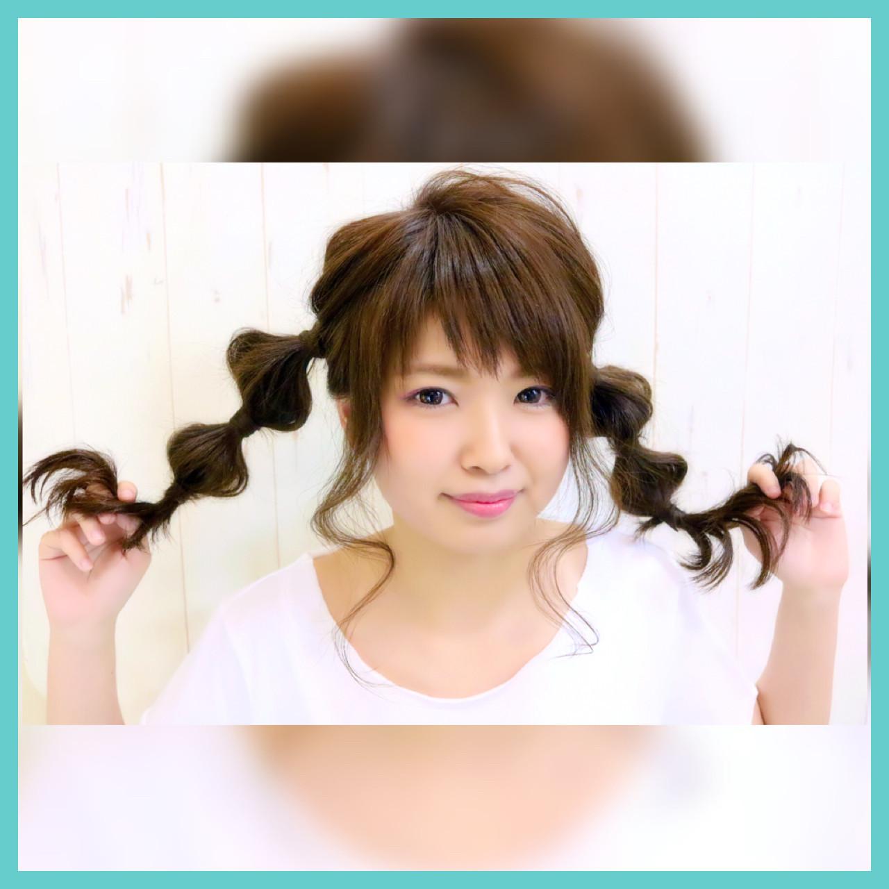 ガーリー 簡単ヘアアレンジ ヘアアレンジ フェミニン ヘアスタイルや髪型の写真・画像