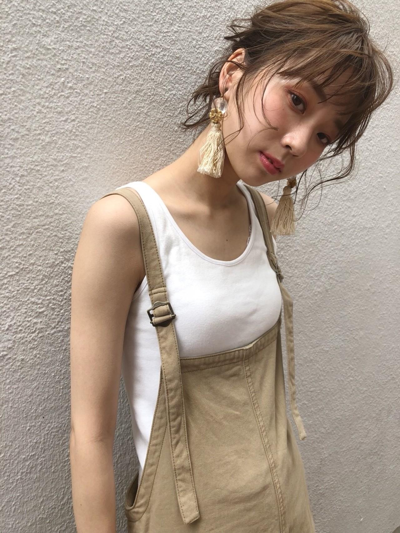 大人かわいい 抜け感 夏 涼しげ ヘアスタイルや髪型の写真・画像 | 杉本侑菜 (すぎもと ありな) /