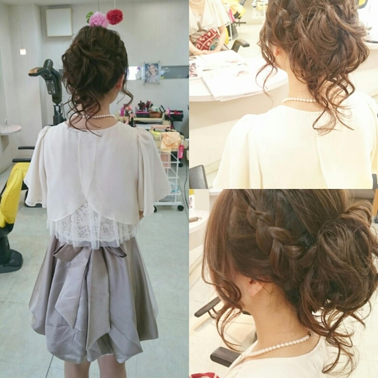 ブライダル 三つ編み ヘアアレンジ 結婚式 ヘアスタイルや髪型の写真・画像 | 美和遥 FITZ(フィッツ) / 富士美容院 FITZ (フィッツ)