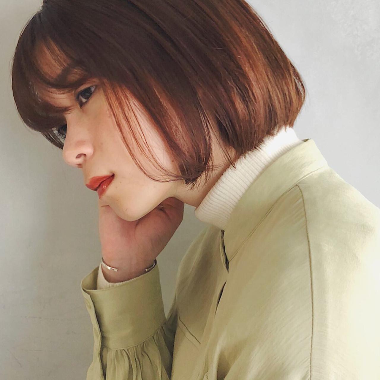 外ハネボブ 切りっぱなしボブ 前下がりボブ ナチュラル ヘアスタイルや髪型の写真・画像 | 豊田楓 / GARDEN aoyama