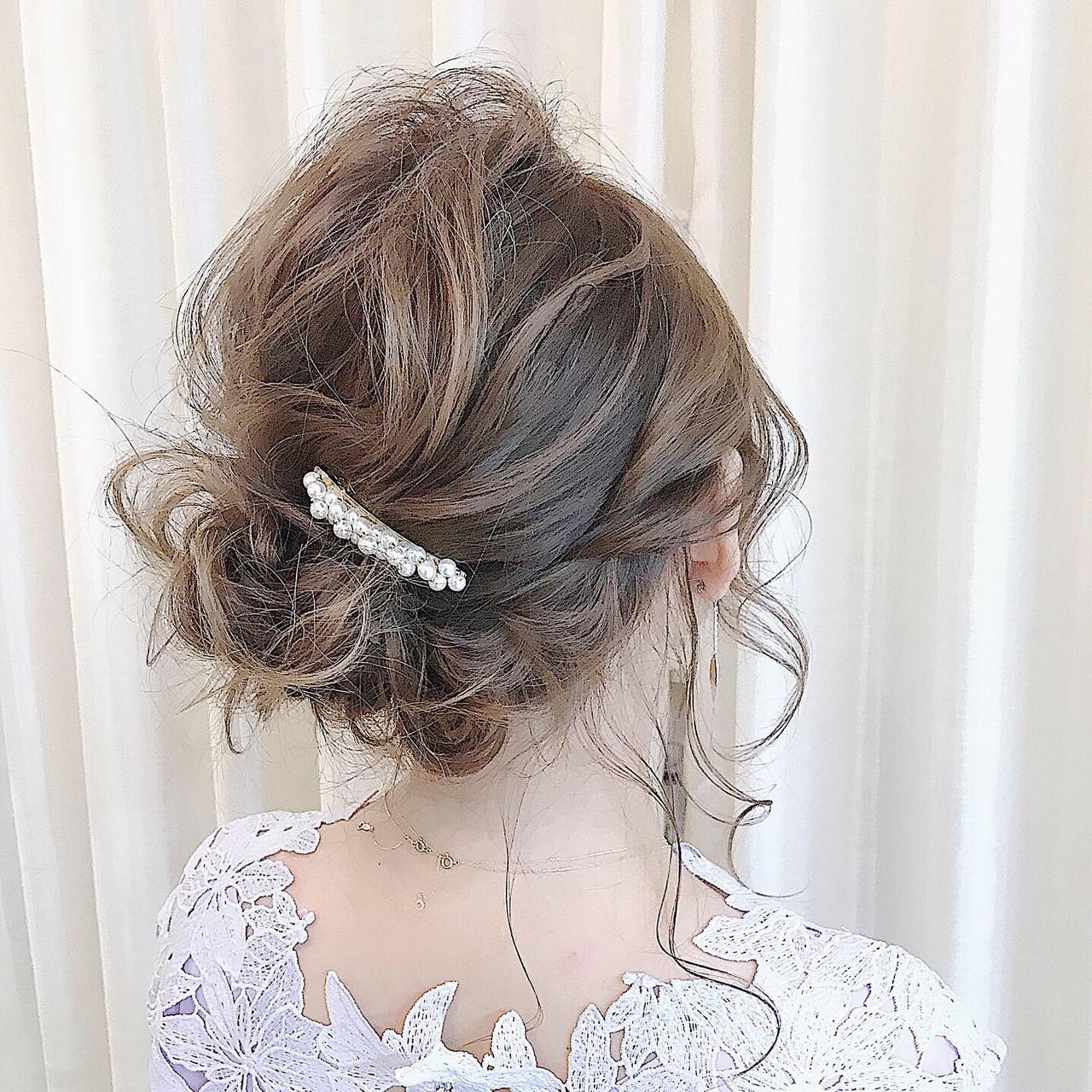 成人式 ミディアム 簡単ヘアアレンジ ナチュラル ヘアスタイルや髪型の写真・画像   内田 一也 / hair/nail space a:le