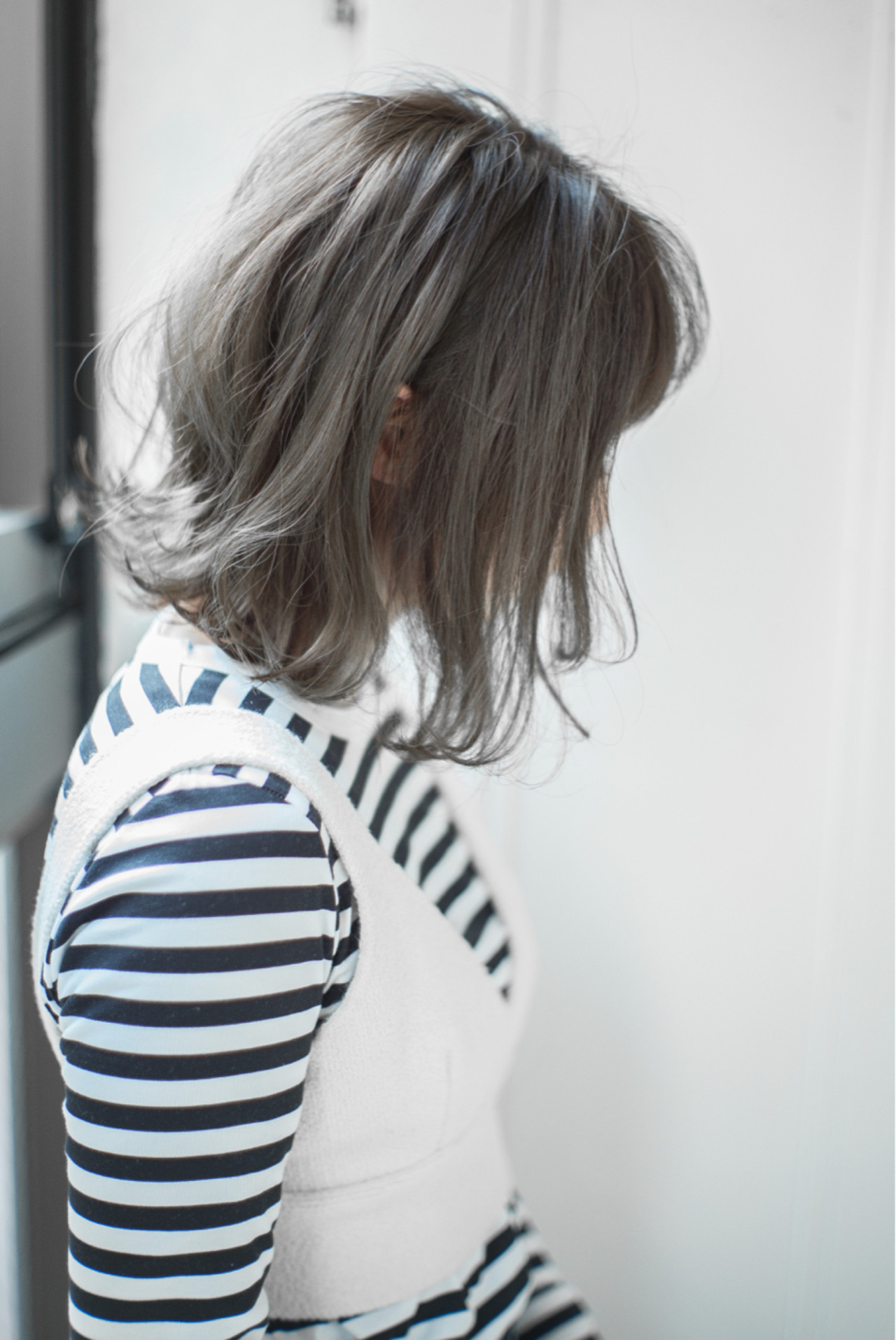 ボブ ニュアンス 黒髪 ナチュラル ヘアスタイルや髪型の写真・画像 | 白井雄喜 / FERIA心斎橋