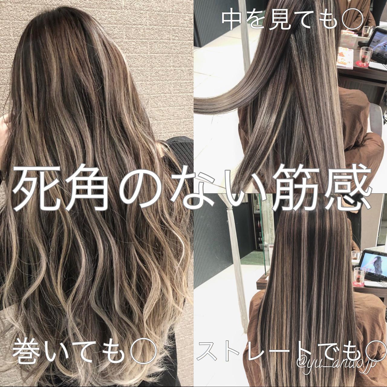 デート 外国人風 ストリート バレイヤージュ ヘアスタイルや髪型の写真・画像 | アンドウ ユウ / agu hair edge