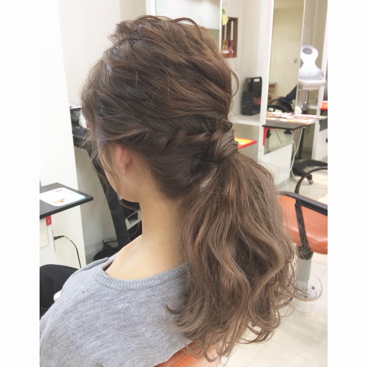 ショート 簡単ヘアアレンジ 外国人風 ロング ヘアスタイルや髪型の写真・画像 | 藤野美咲 / LES  GARCONS