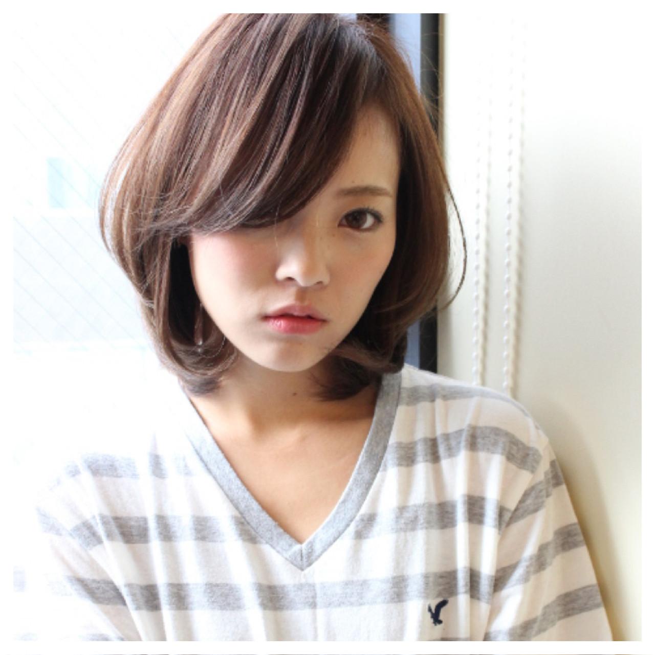 前髪あり ミディアム 抜け感 ナチュラル ヘアスタイルや髪型の写真・画像 | Masanori Yamasaki / Reuna(レウナ)