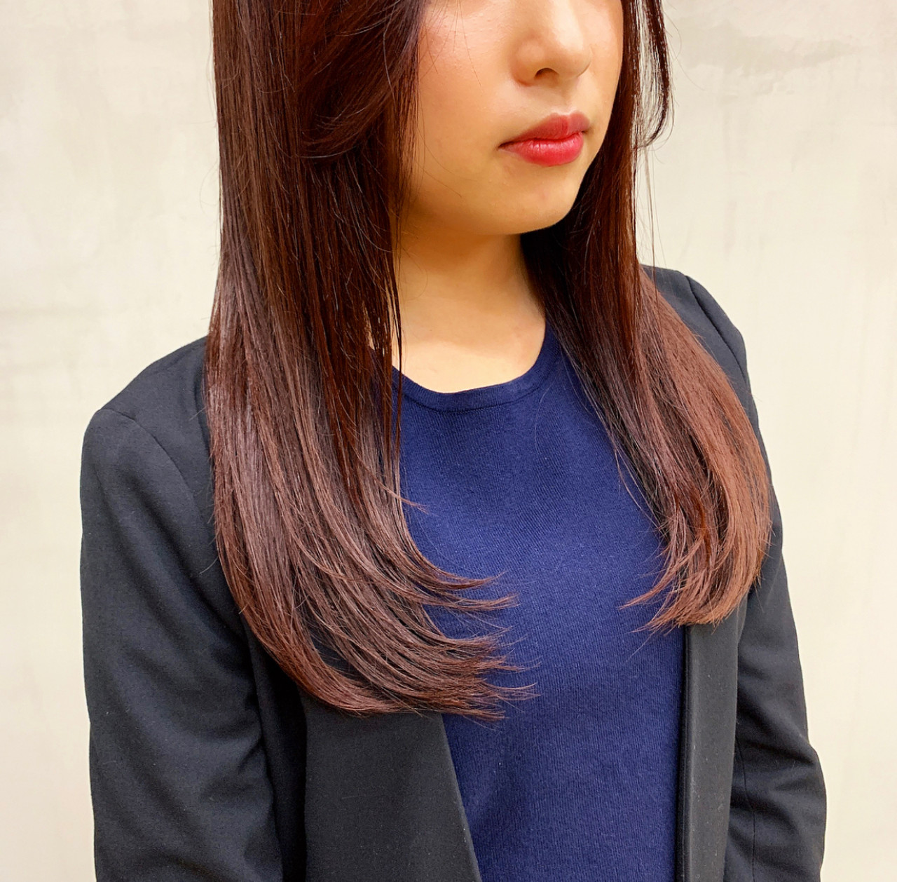 ベリーピンク 外国人風カラー ナチュラル ロング ヘアスタイルや髪型の写真・画像