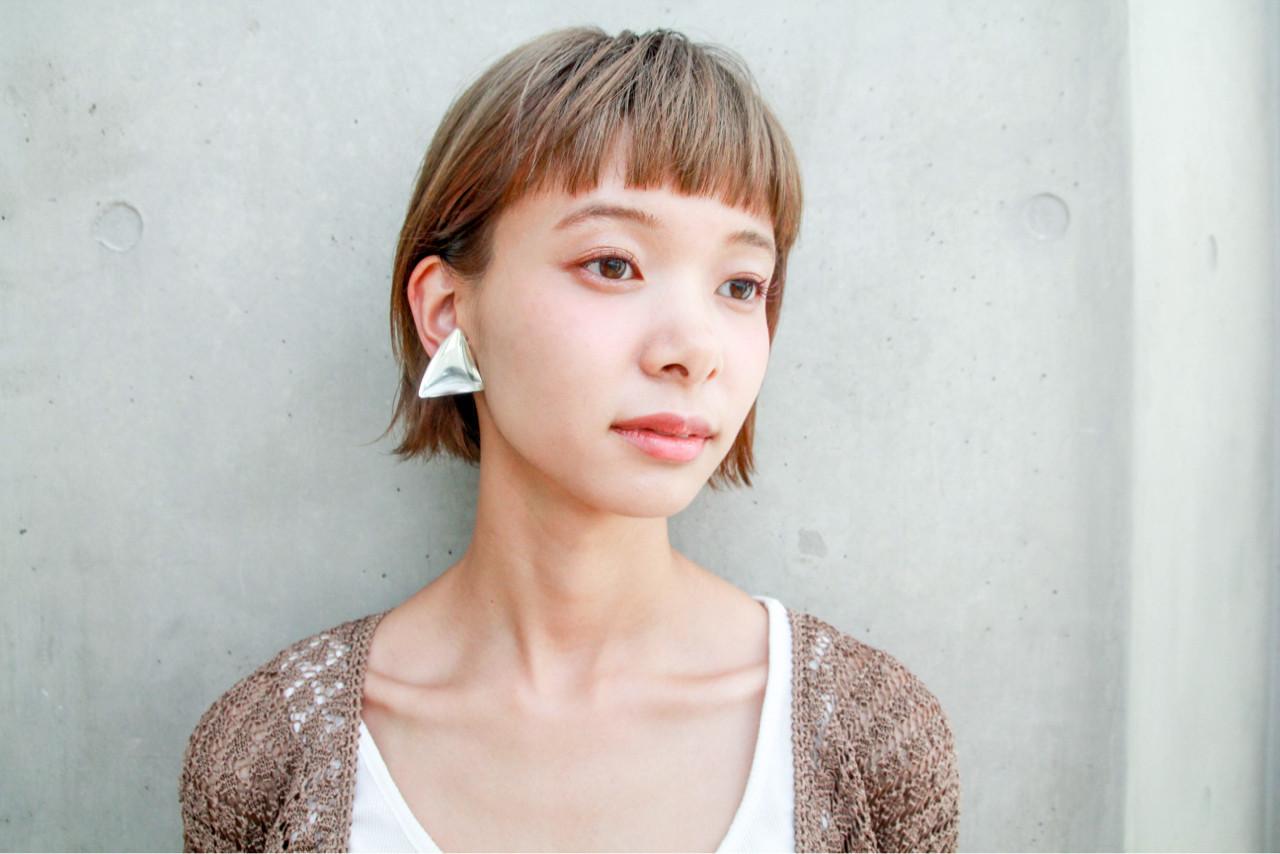 ショートボブ 秋 ショートバング ナチュラル ヘアスタイルや髪型の写真・画像 | 川島 ゆり / ROGUE