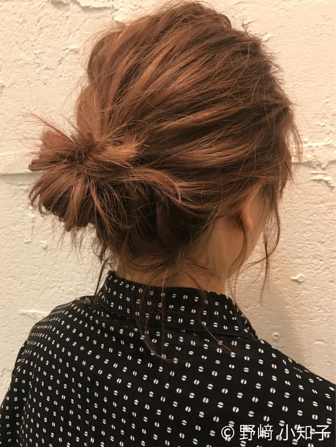 お団子 オフィス ショート コンサバ ヘアスタイルや髪型の写真・画像 | 野﨑 小知子 / CACINA TOKYO