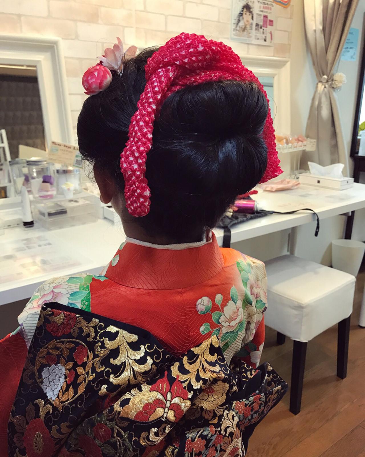 ヘアアレンジ 和服 ママ 着物 ヘアスタイルや髪型の写真・画像 | Moriyama Mami / 福岡天神ヘアセット・着付け専門店【Three-keys】