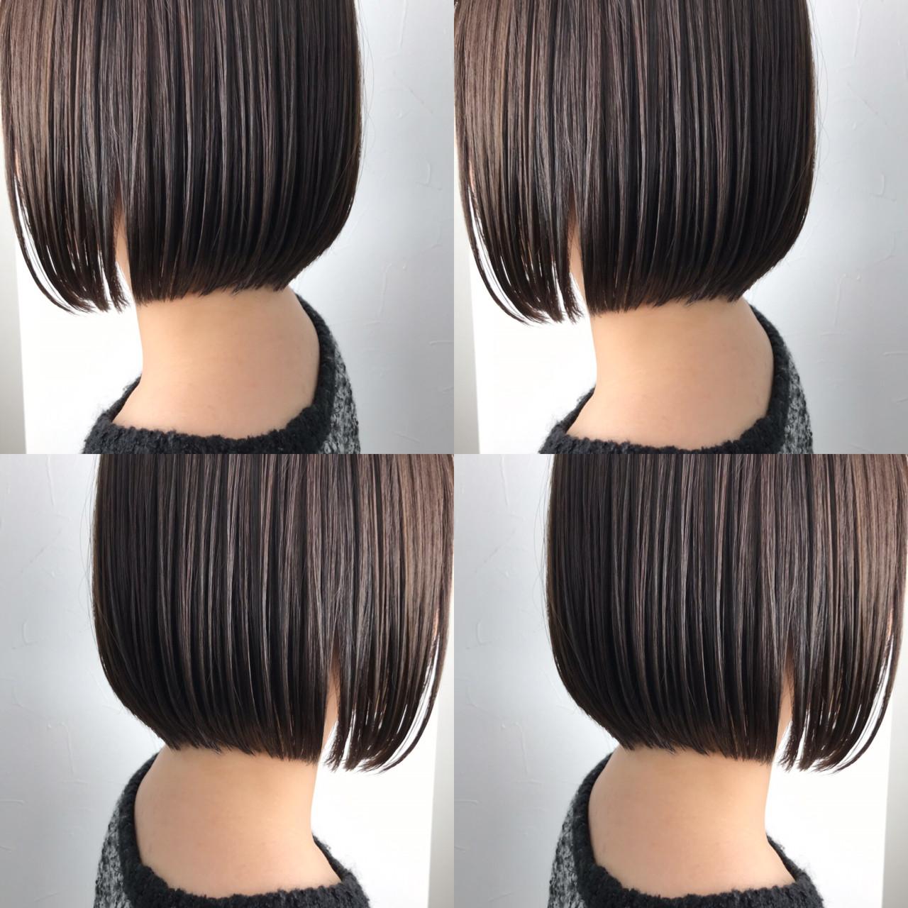 デート オフィス ボブ ミニボブ ヘアスタイルや髪型の写真・画像