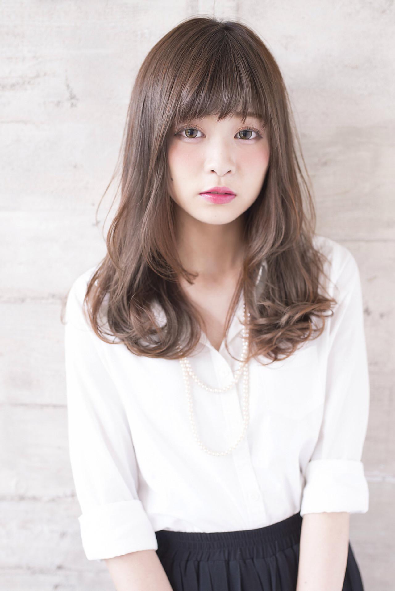 ピュア 愛され モテ髪 ナチュラル ヘアスタイルや髪型の写真・画像 | 長澤 直樹 / THOiRY栄