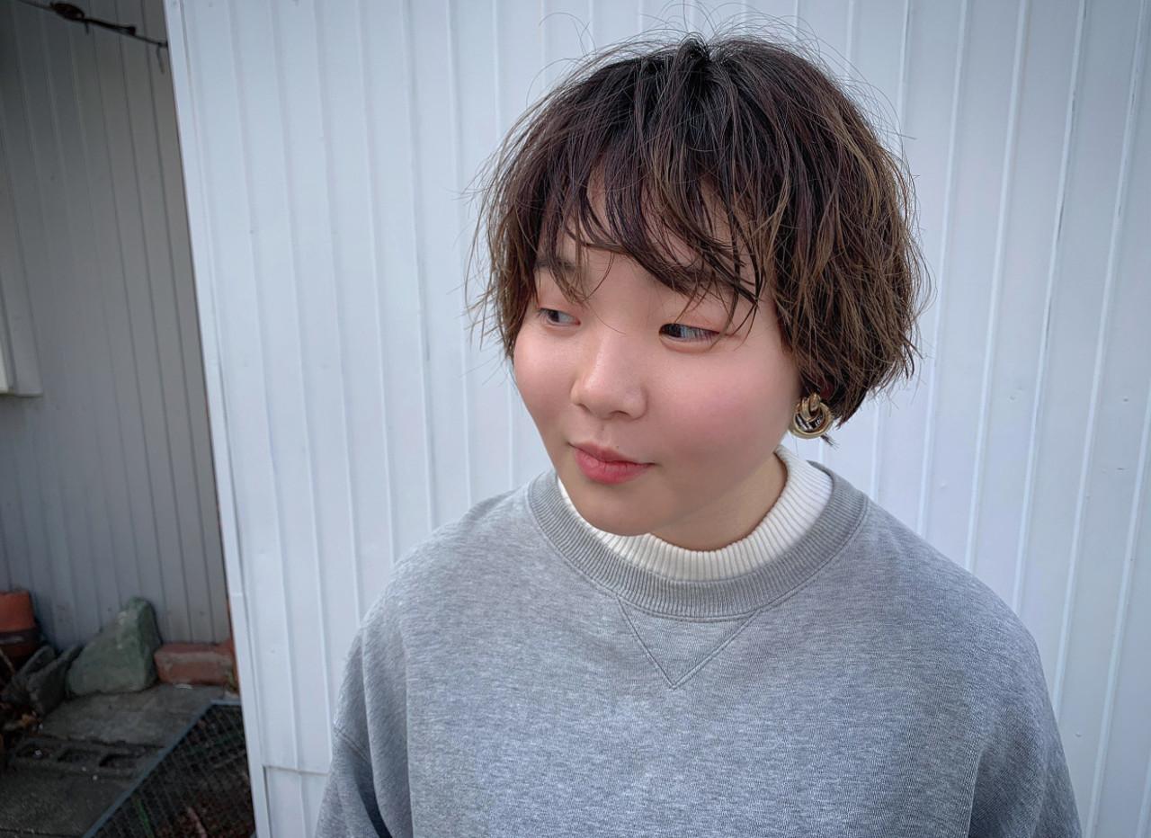 ショートボブ ガーリー 3Dハイライト ベリーショート ヘアスタイルや髪型の写真・画像 | 朝木 恵 / muku