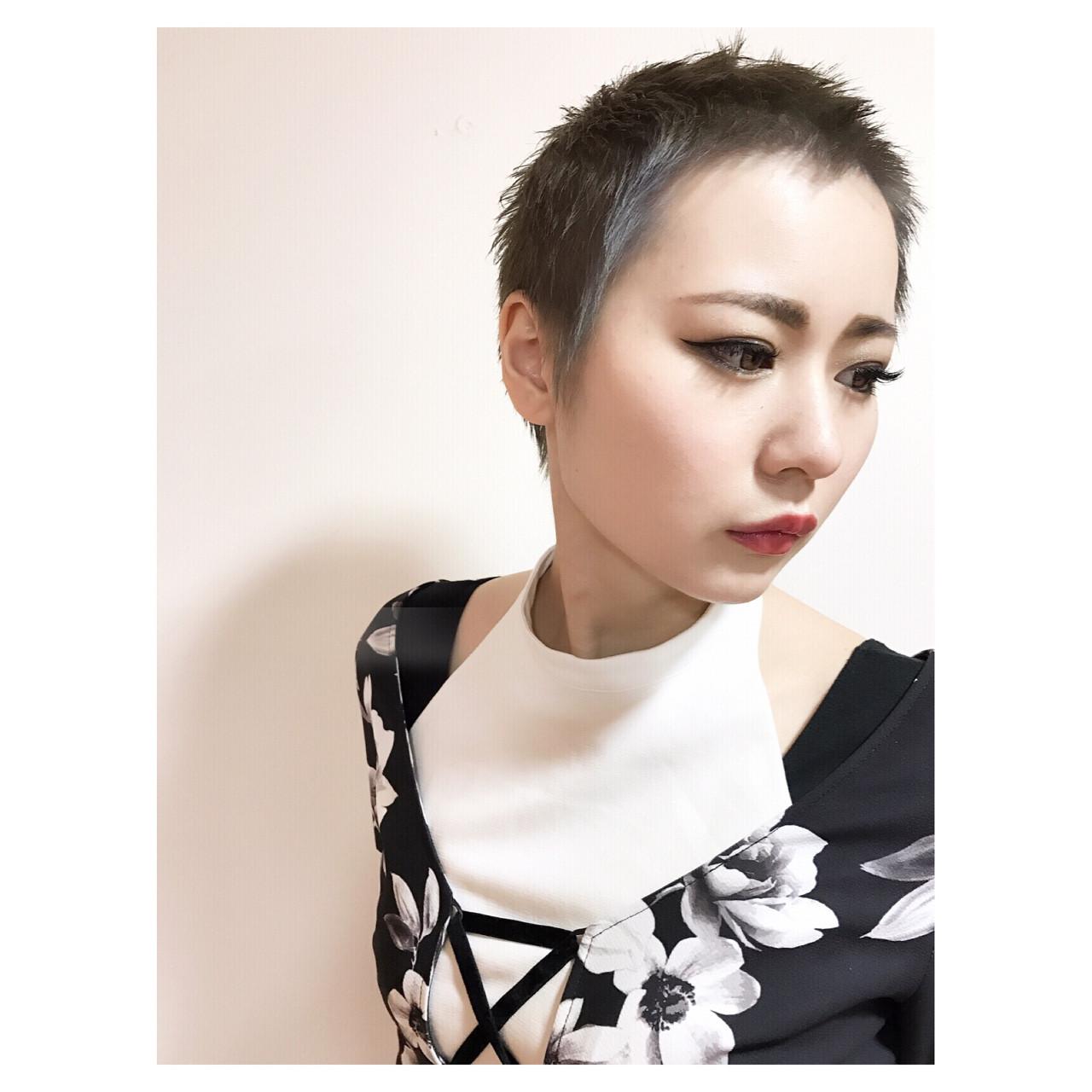 ベリーショート かっこいい ショート 個性的 ヘアスタイルや髪型の写真・画像 | ショート職人 伊藤修久 【#tag】 / 株)92  #tag