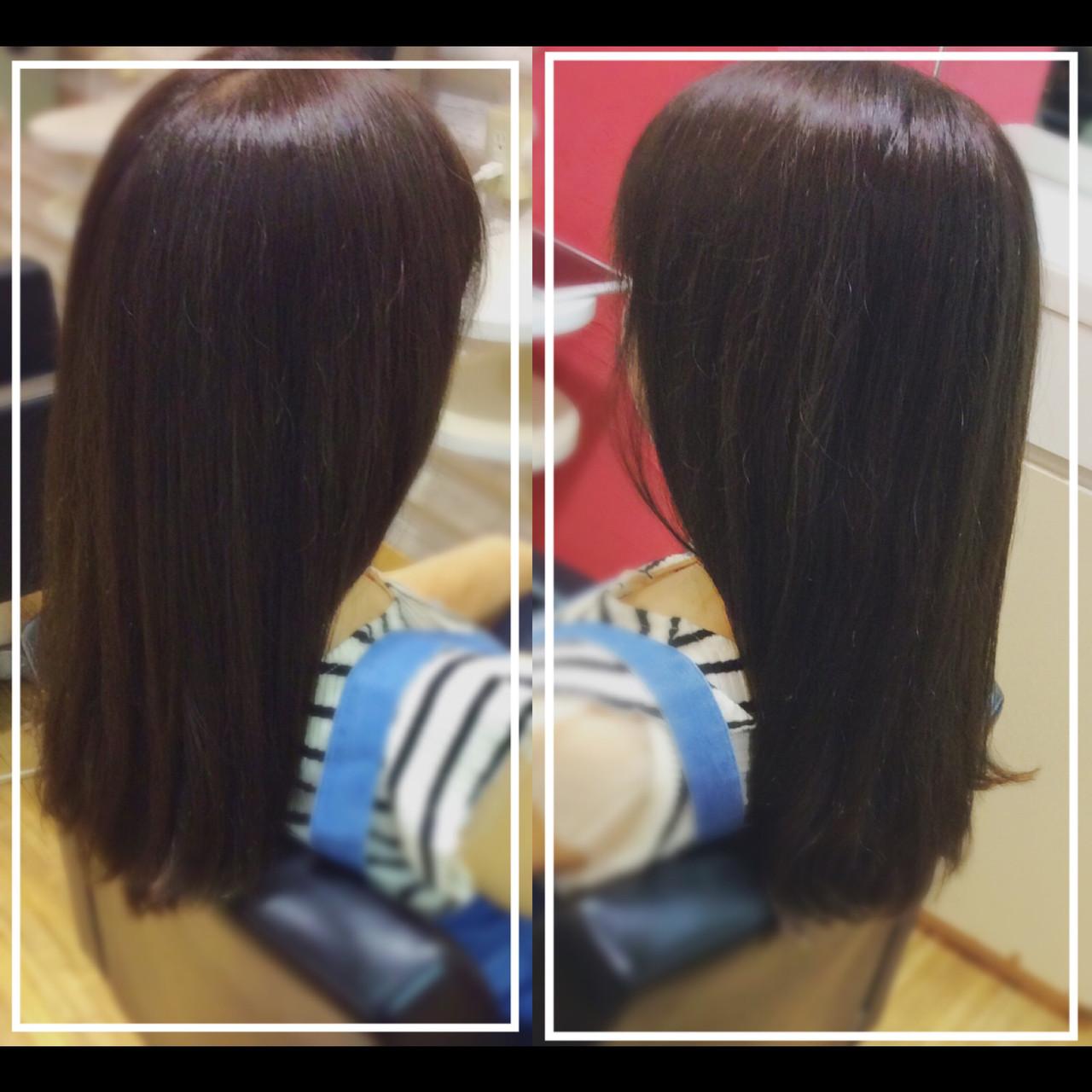 ナチュラル ロング 髪質改善トリートメント 社会人の味方 ヘアスタイルや髪型の写真・画像