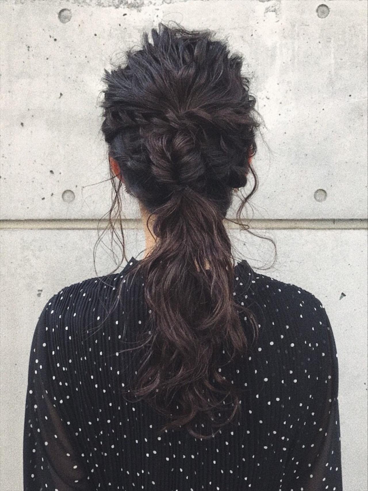ロング アンニュイほつれヘア 結婚式 ヘアアレンジ ヘアスタイルや髪型の写真・画像 | おかゆ / tete nico
