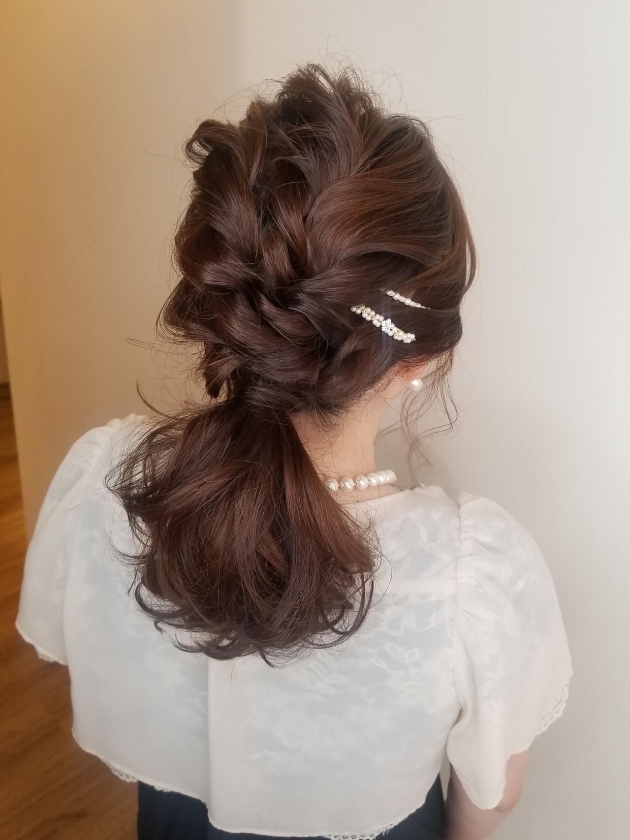 結婚式ヘアアレンジ ヘアアレンジ ガーリー 結婚式 ヘアスタイルや髪型の写真・画像 | Naoko Miura / avant