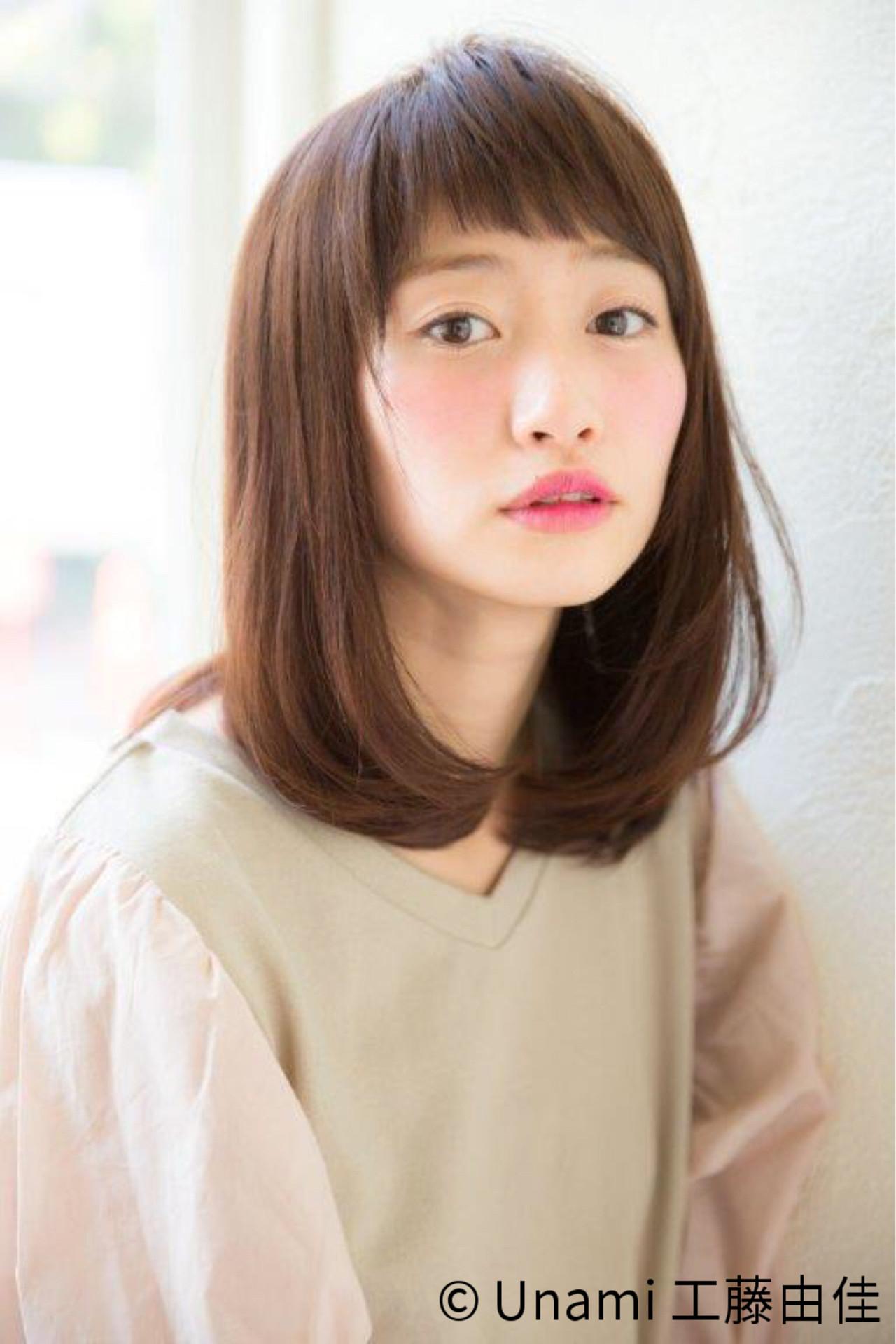 パーマ モテ髪 レイヤーカット ナチュラル ヘアスタイルや髪型の写真・画像