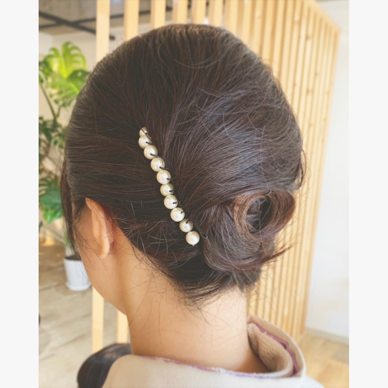 エレガント ヘアアレンジ 和装髪型 和装ヘア ヘアスタイルや髪型の写真・画像 | 寺島孝夫 / Lea hair&nail