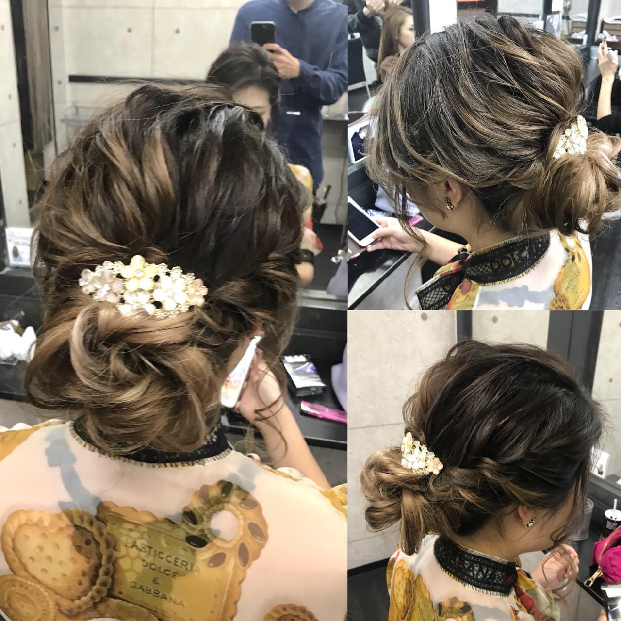 上品 ブライダル 二次会 結婚式 ヘアスタイルや髪型の写真・画像 | Hironobu Nakae / LOGUE-karasuma-