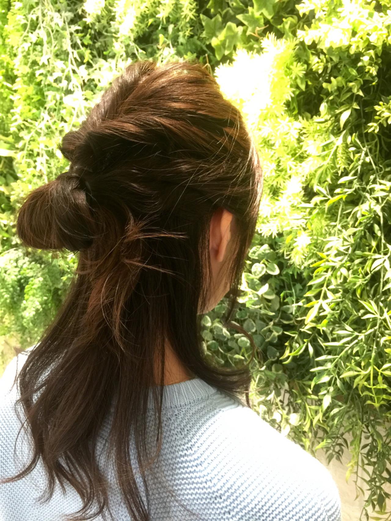 ヘアアレンジ ねじり パーティ セミロング ヘアスタイルや髪型の写真・画像 | 今井 愛梨奈 /