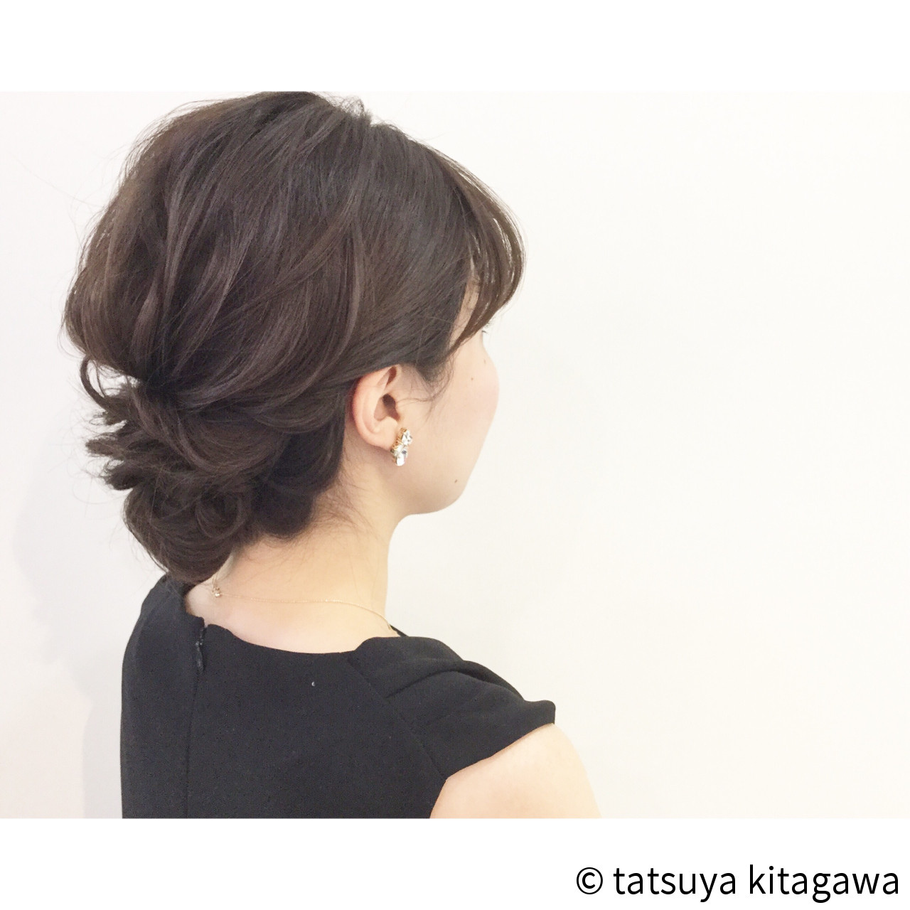 外国人風 上品 結婚式 二次会 ヘアスタイルや髪型の写真・画像