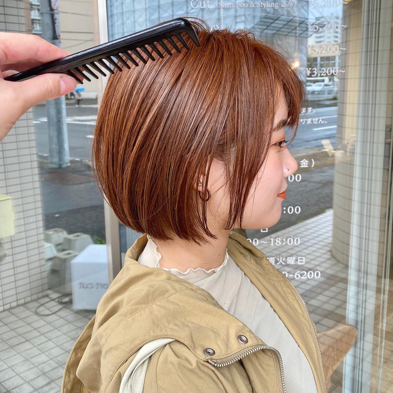 アンニュイ ショートボブ ショートヘア 小顔ショート ヘアスタイルや髪型の写真・画像 | 【ショート&ショートボブはお任せください】淺川聖 / parc sapporo
