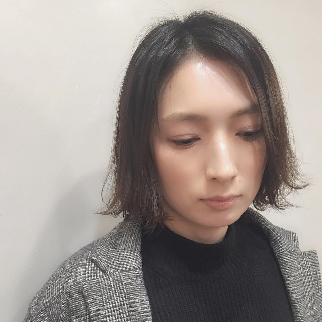 リラックス ハイライト おかっぱ 外国人風カラー ヘアスタイルや髪型の写真・画像 | Junko Aida / Hair salon Canaria