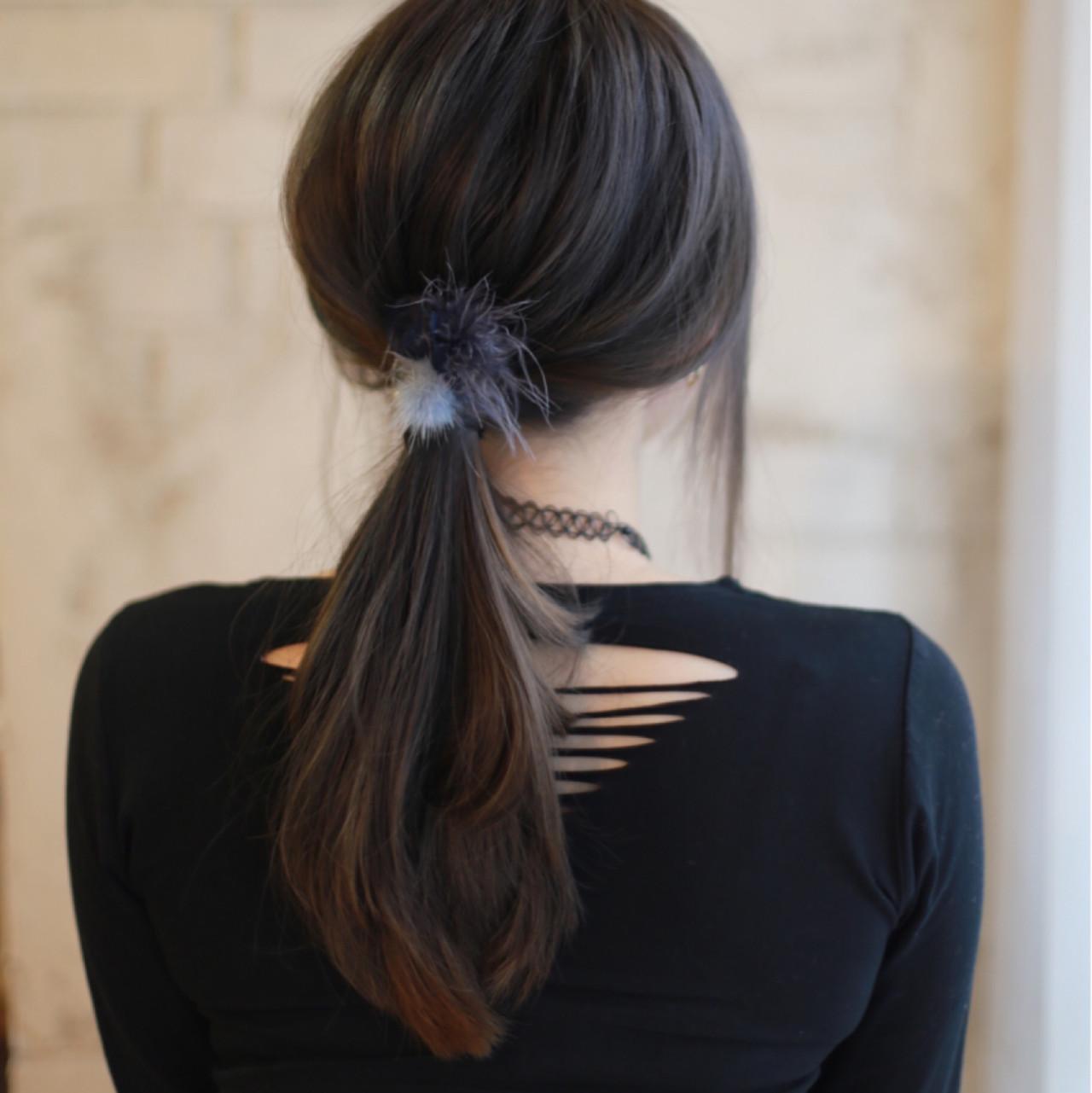 大人女子 簡単ヘアアレンジ ロング ショート ヘアスタイルや髪型の写真・画像
