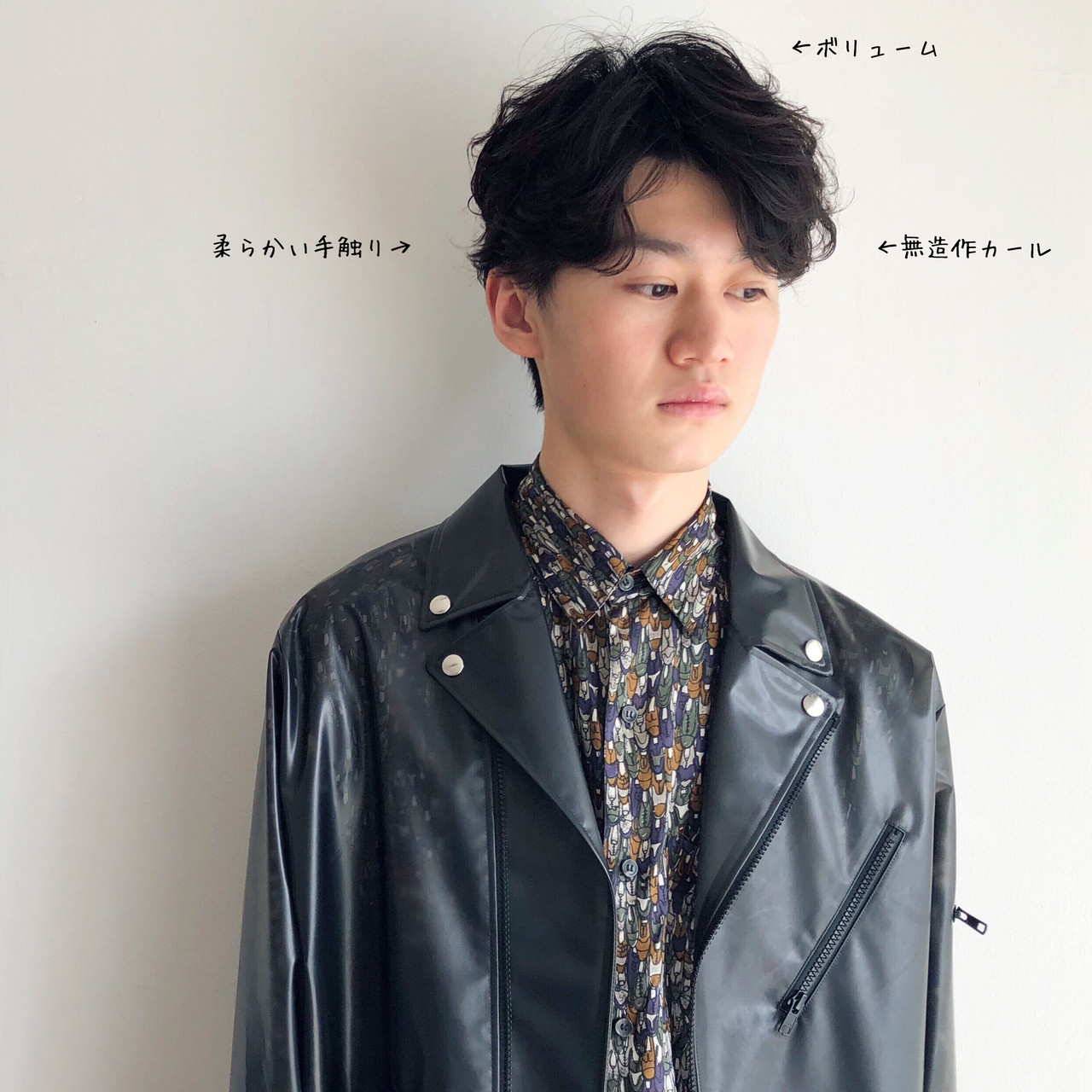 メンズヘア ショート パーマ ストリート ヘアスタイルや髪型の写真・画像 | anti_RIKUSHI / ANTI