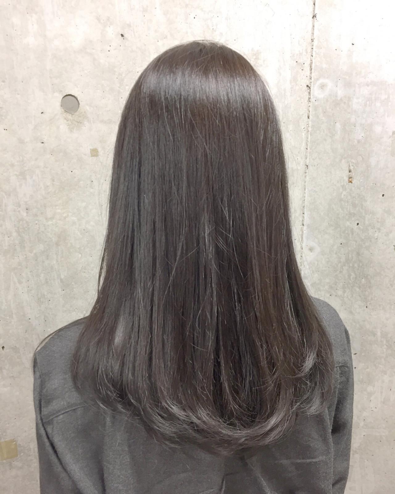 ヘアアレンジ ナチュラル イルミナカラー 透明感 ヘアスタイルや髪型の写真・画像