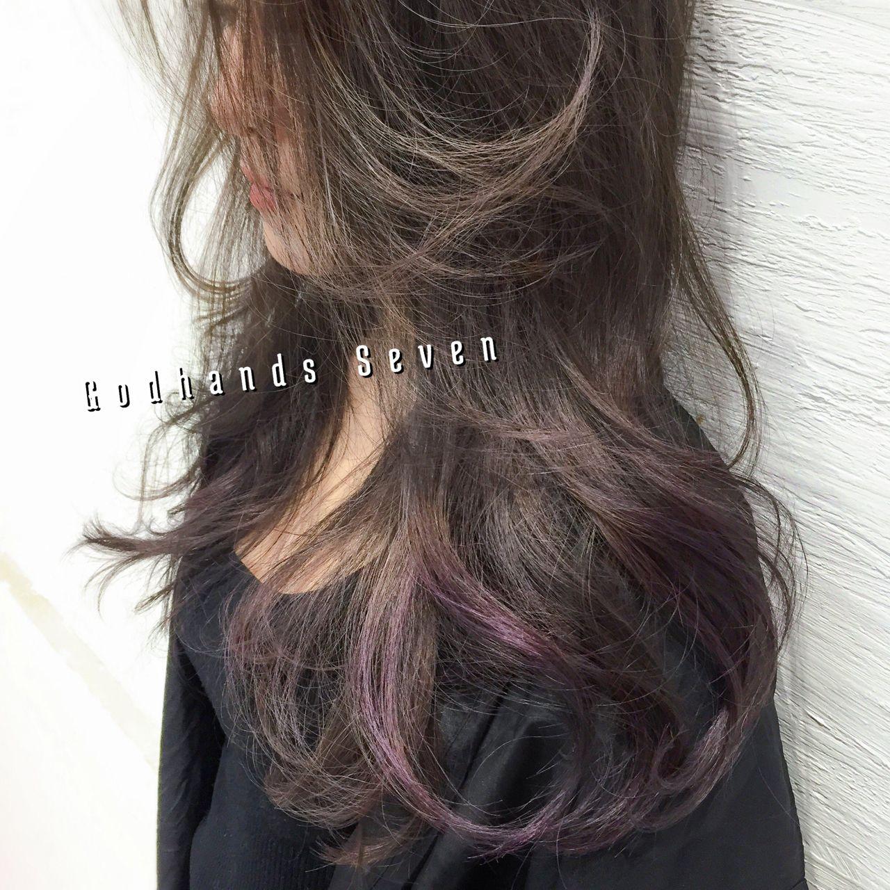 ショート ロング 暗髪 ウェットヘア ヘアスタイルや髪型の写真・画像 | Seven /