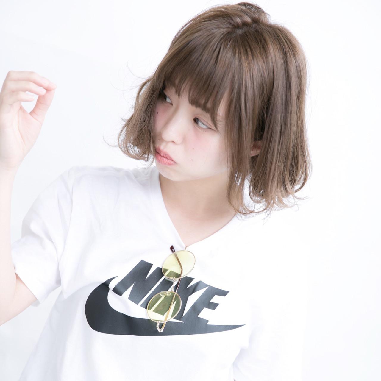 ミニボブ 小顔ヘア ボブ 大人かわいい ヘアスタイルや髪型の写真・画像   宮川好江 / Euphoria SHIBUYA GRANDE