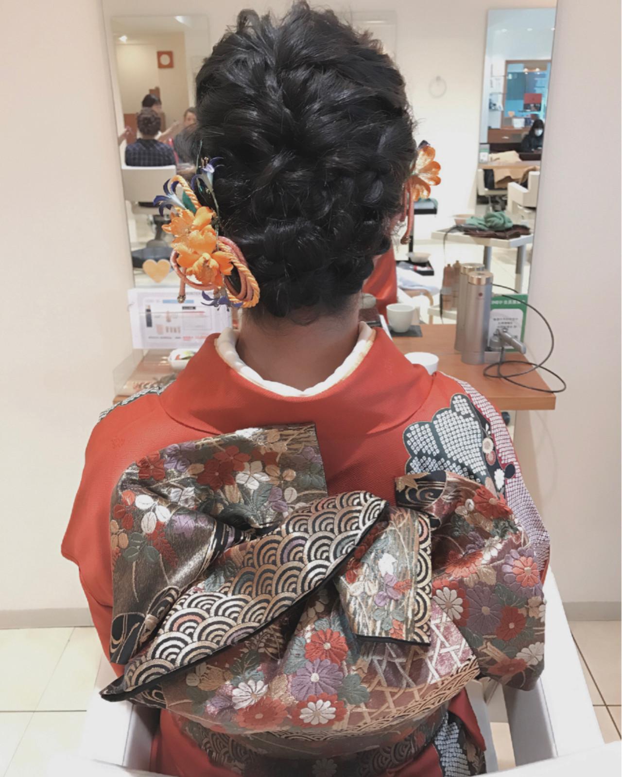 編み込み ショート ヘアアレンジ 簡単ヘアアレンジ ヘアスタイルや髪型の写真・画像 | 小田 孝一 / Oase makoto brands