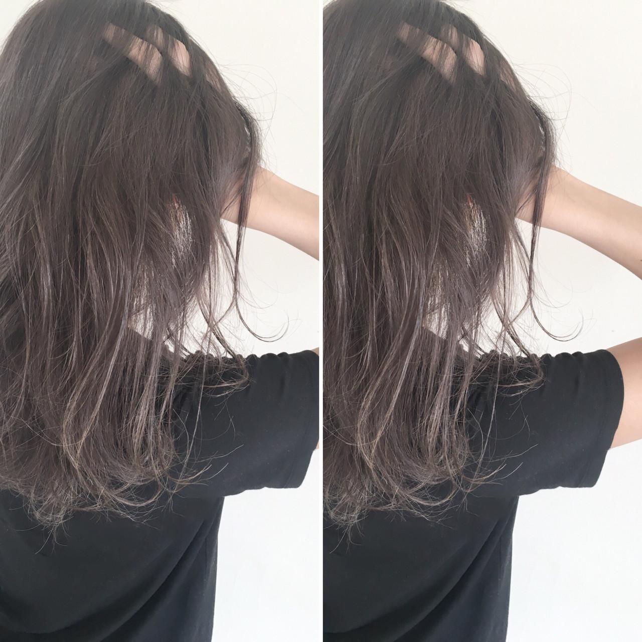 透明感 抜け感 暗髪 ナチュラル ヘアスタイルや髪型の写真・画像