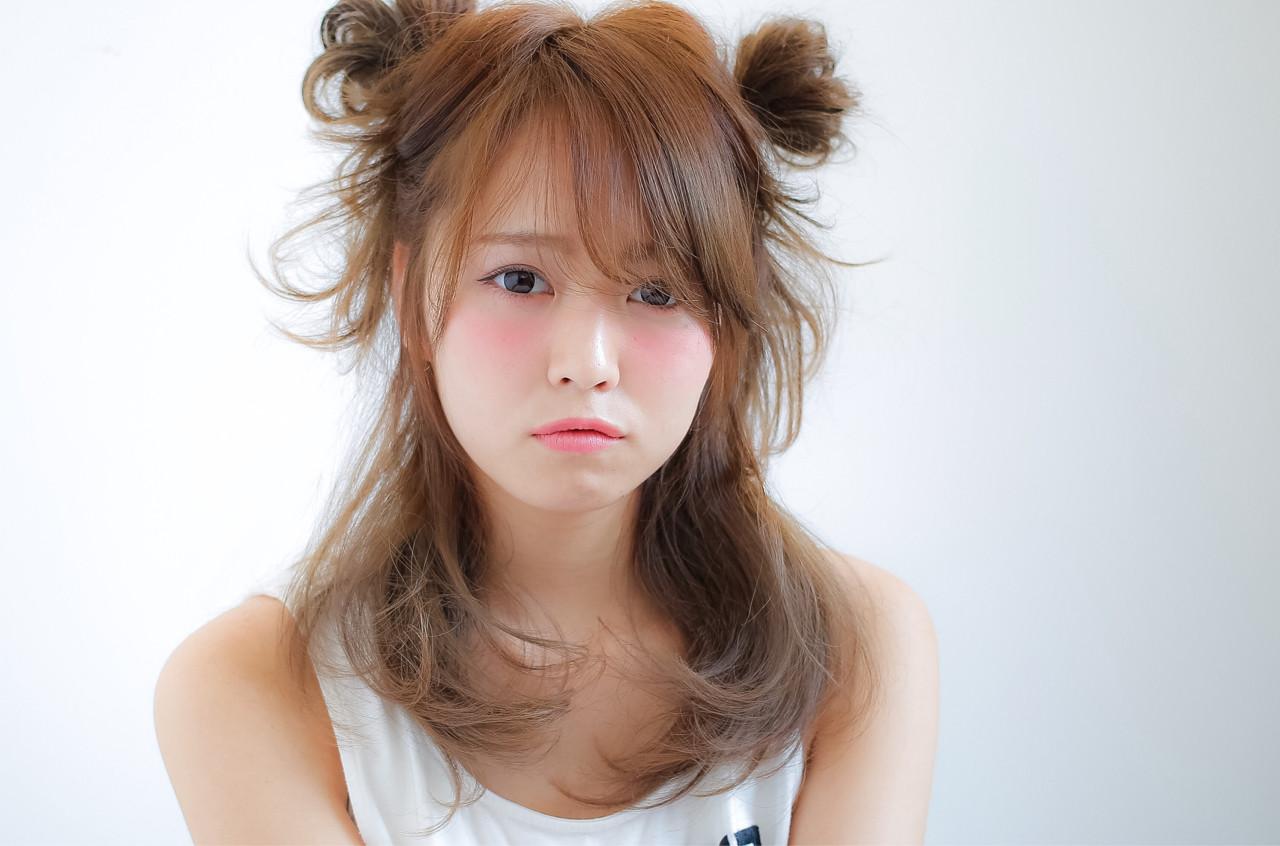 ハーフアップ ショート ゆるふわ 簡単ヘアアレンジ ヘアスタイルや髪型の写真・画像 | 小笠原 淳 / hair make No.8(ヘアメイクエイト)