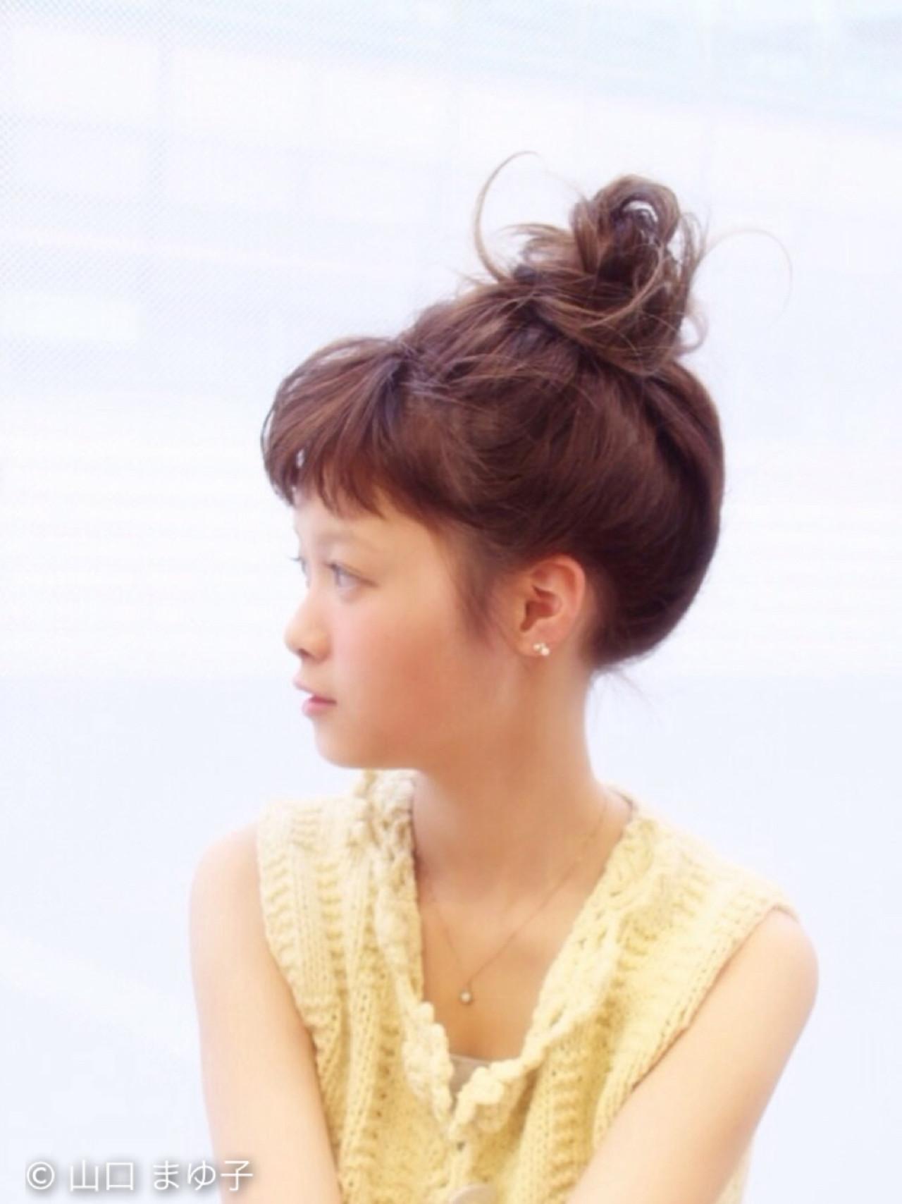 ミディアム ヘアアレンジ 簡単ヘアアレンジ ゆるふわ ヘアスタイルや髪型の写真・画像