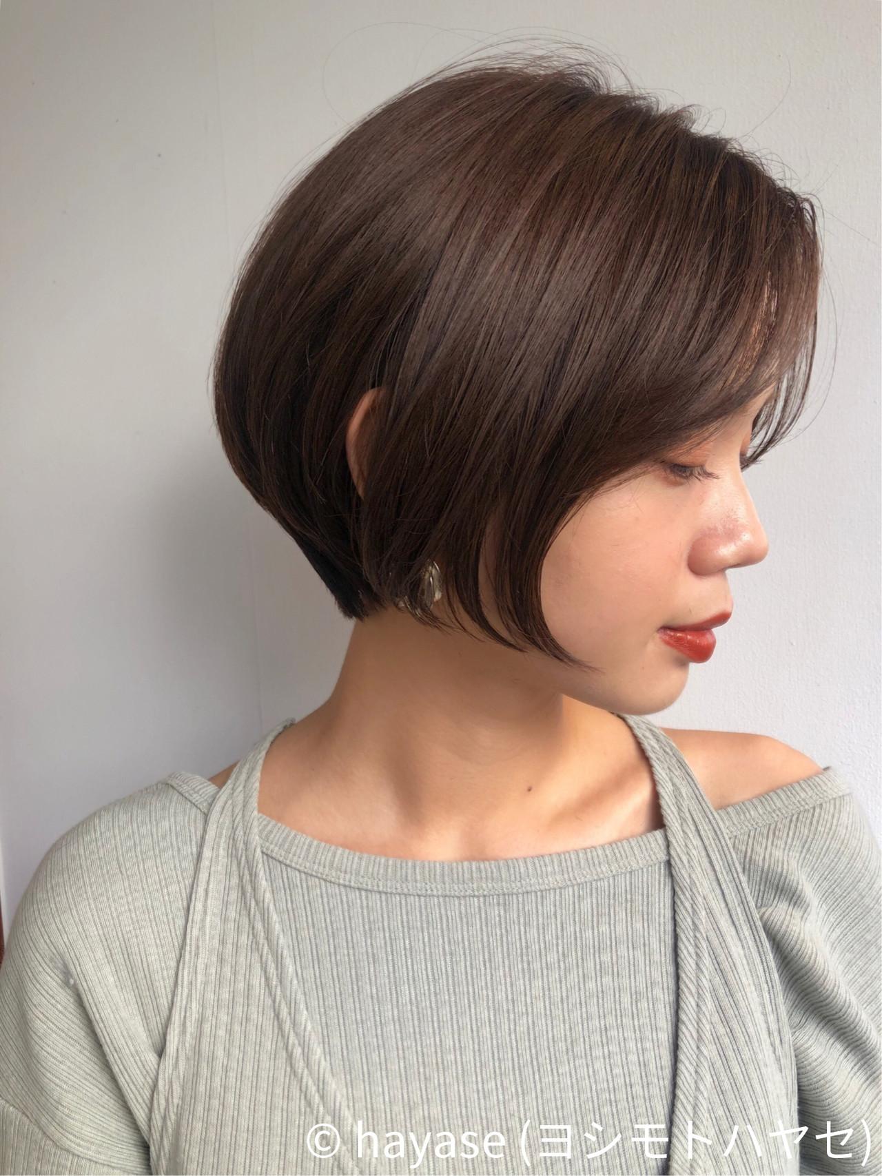 ショートボブ ベリーショート バイオレットアッシュ エレガント ヘアスタイルや髪型の写真・画像