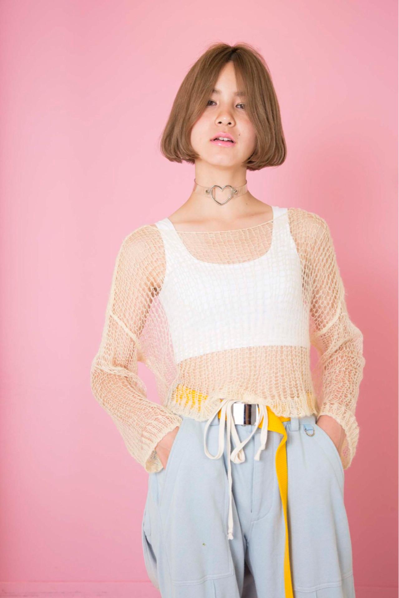 ハイトーン ストリート アッシュ ボブ ヘアスタイルや髪型の写真・画像   【SHIMA】モチナガヤスヒロ / SHIMA daikanyama