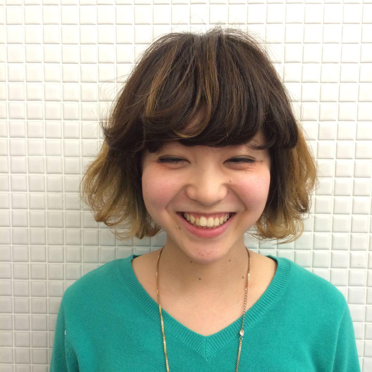 ゆるふわ グラデーションカラー パーマ ストリート ヘアスタイルや髪型の写真・画像 | nakamichi yuca /