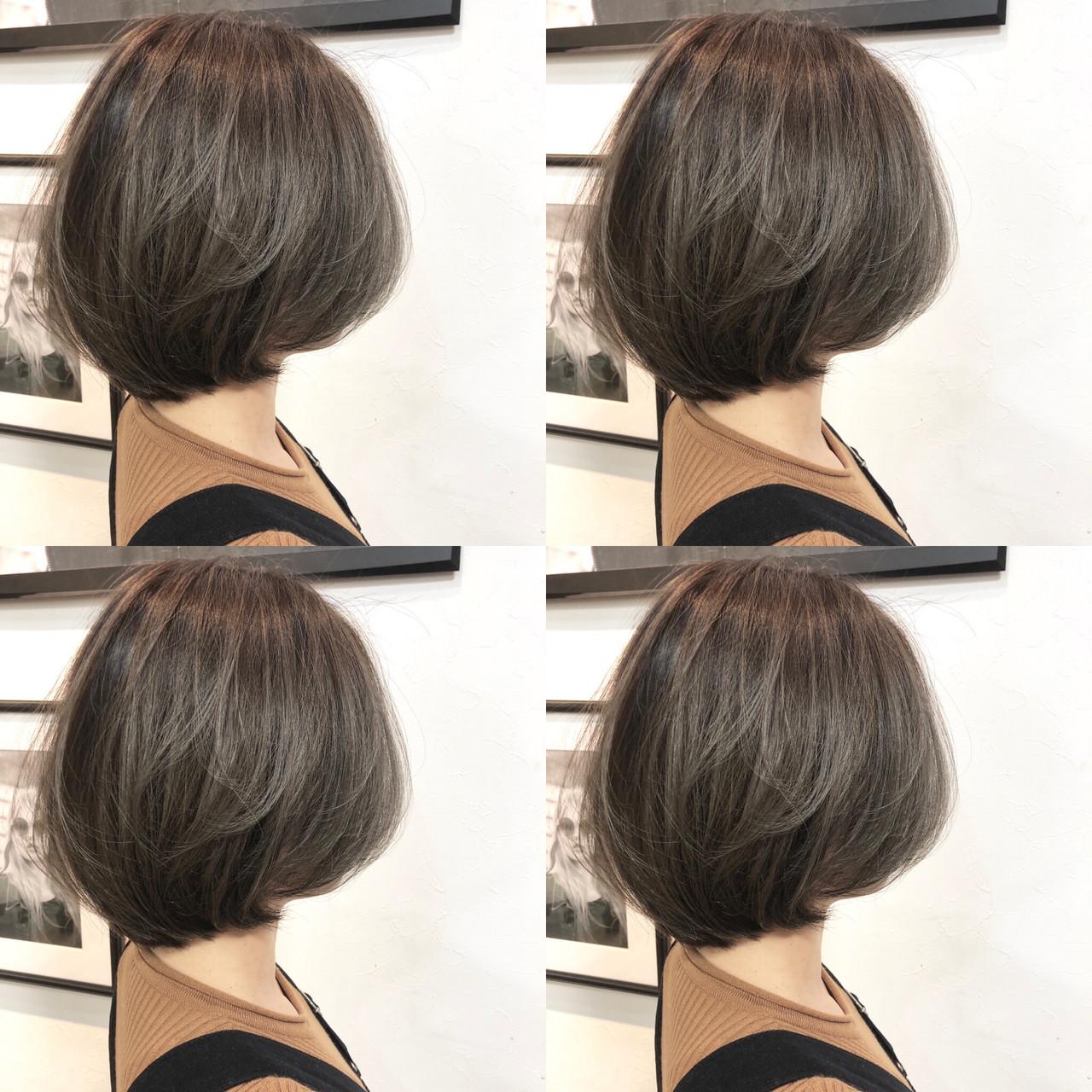 デート フェミニン パーマ ボブ ヘアスタイルや髪型の写真・画像